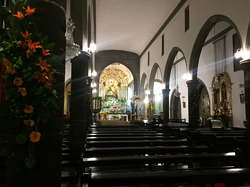 Nave in the church of Sao Miguel do Campo