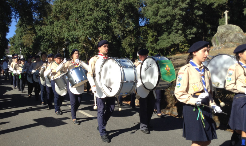 Band of drummers and brass instruments