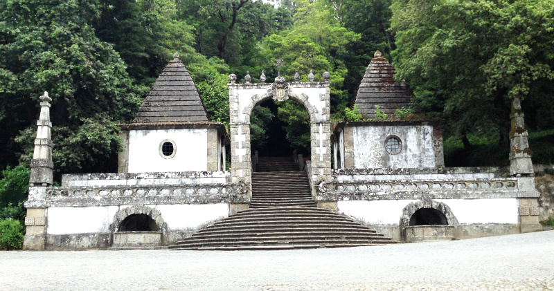Lower entrance to the Sanctuary of Bom Jesus