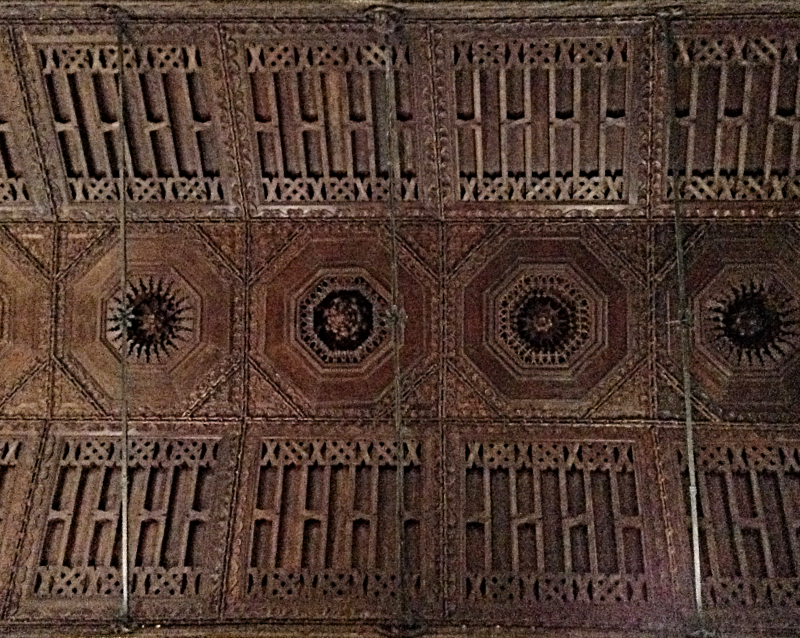 Moorish style wooden roof of Caminha parish church