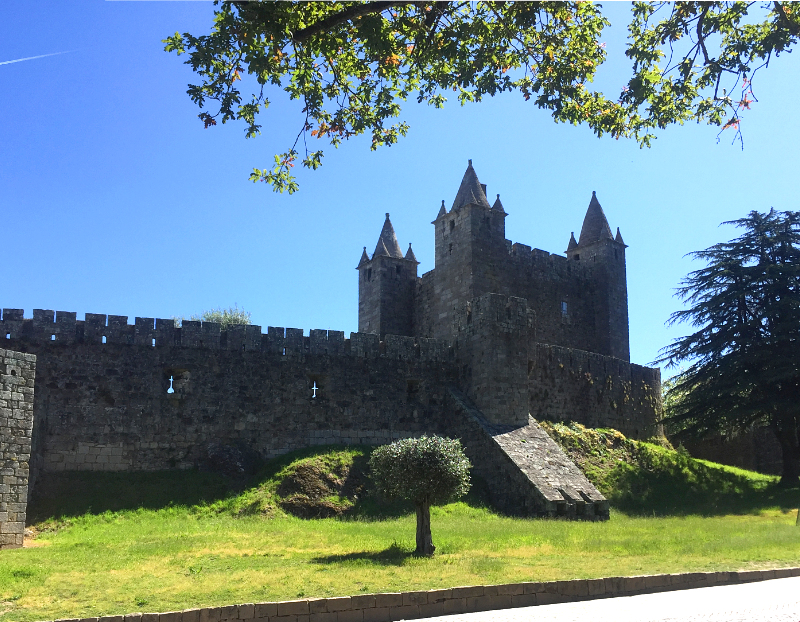 View of castle of Santa Maria da Feira from outside