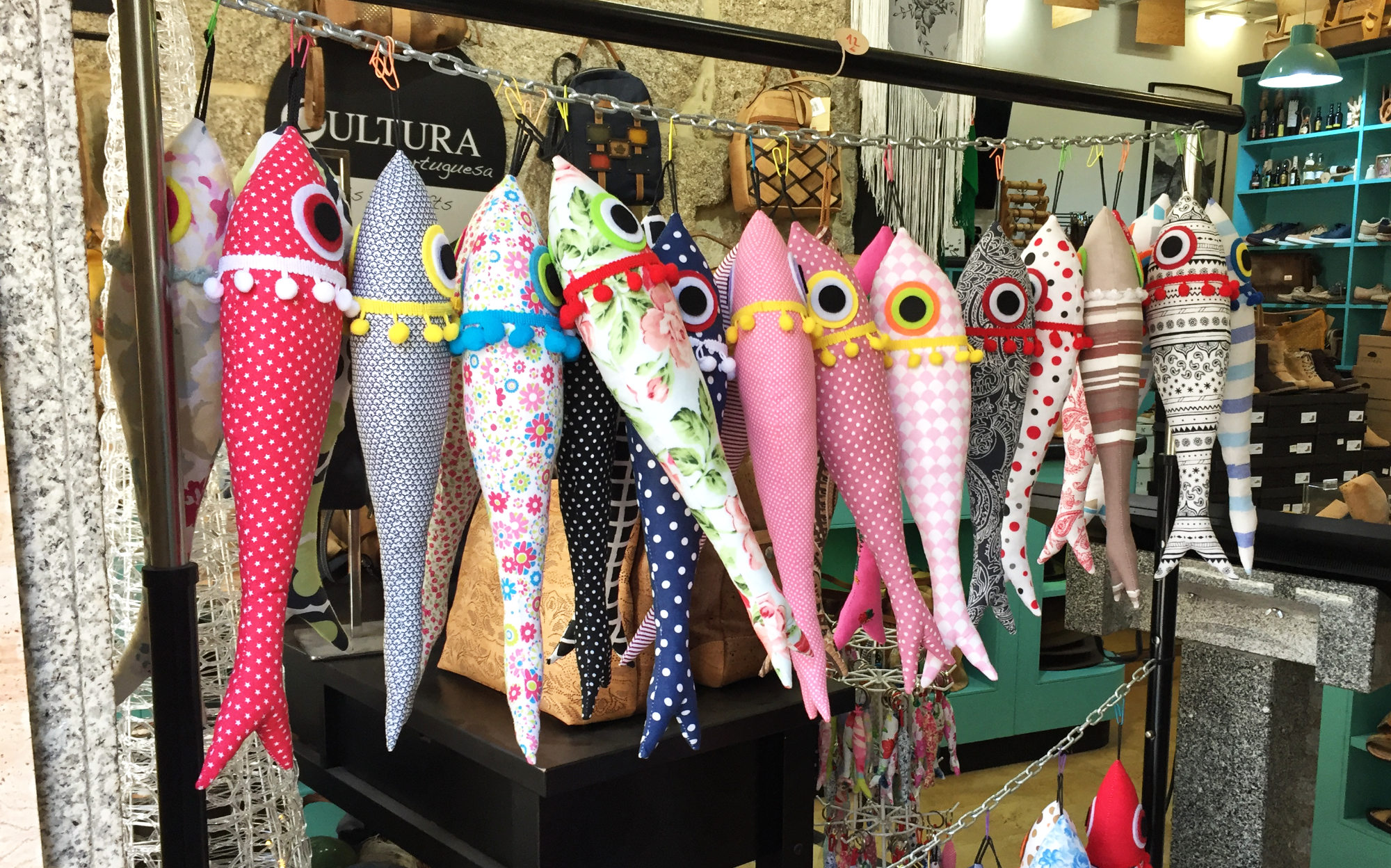 Decorative sardines made out of cloth