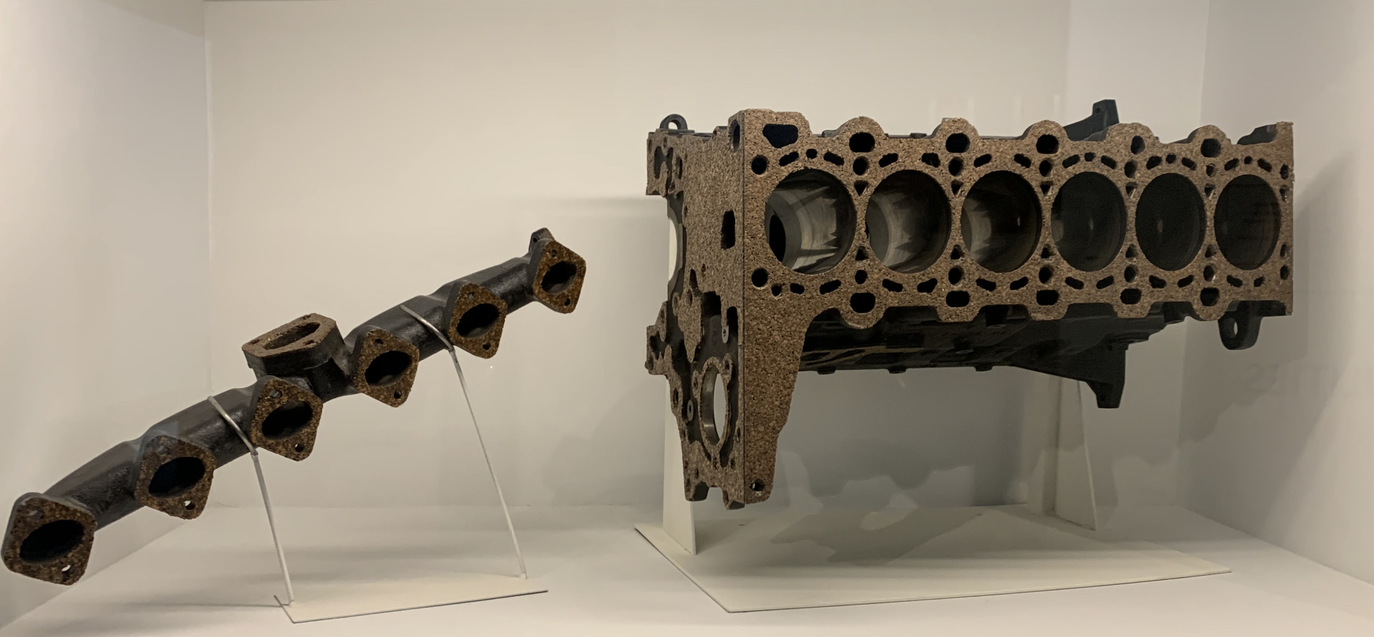 An engine part made from cork
