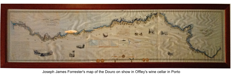 JJ Forrester's ground breaking map of the Douro