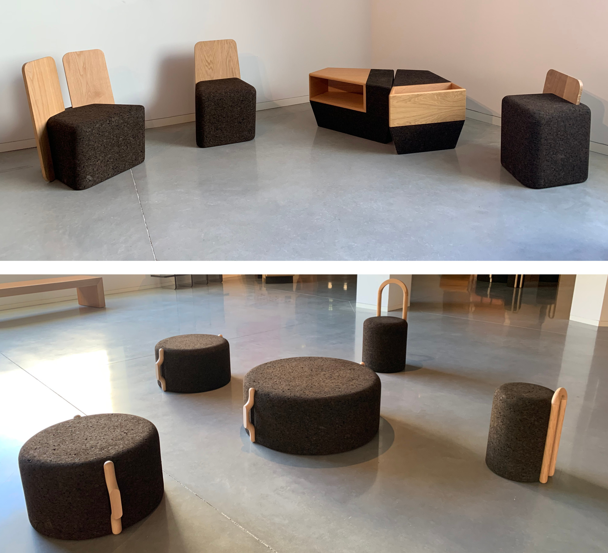 Futuristic cork furniture