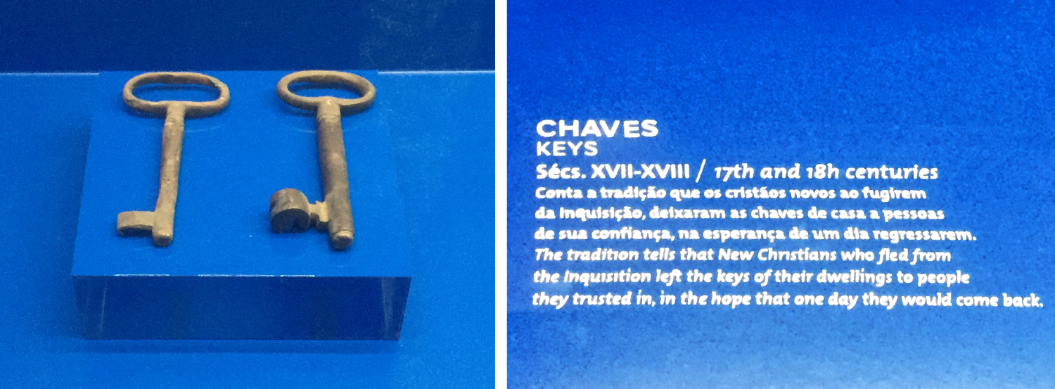 Keys of Jewish houses left in the care of neighbours