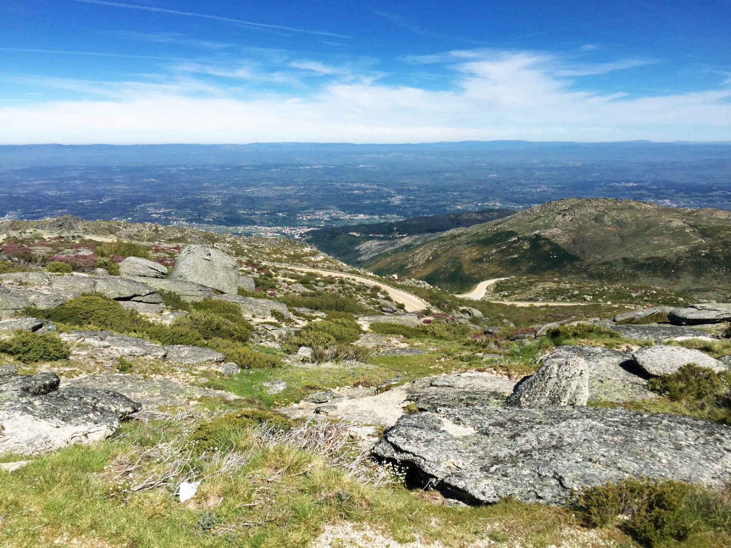 The immense view from the top of the Serr a da Estrela