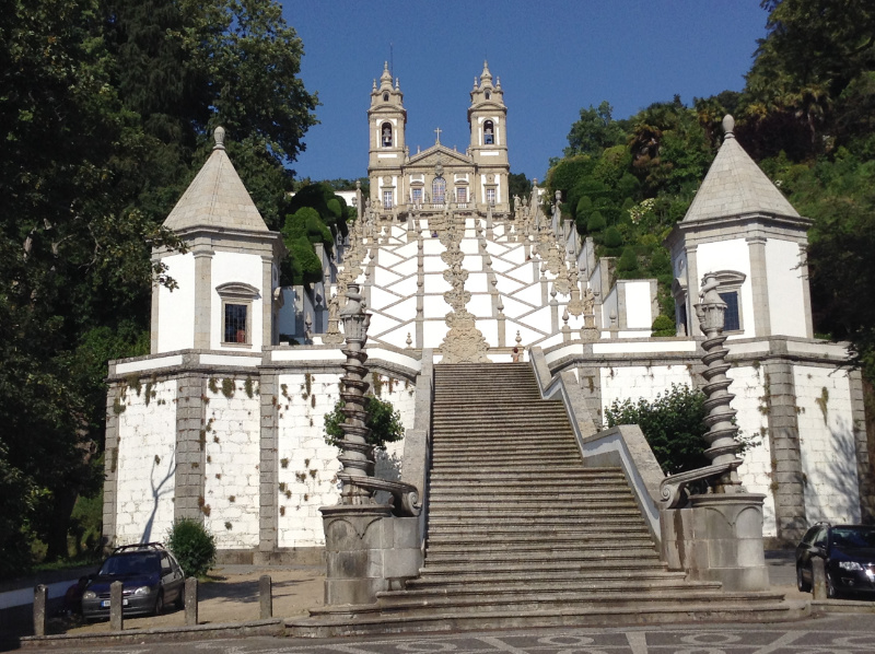Monumental staircase at the Sanctuary of Bom Jesus