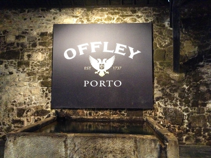 Name plate at Offley's wine cellar in Porto