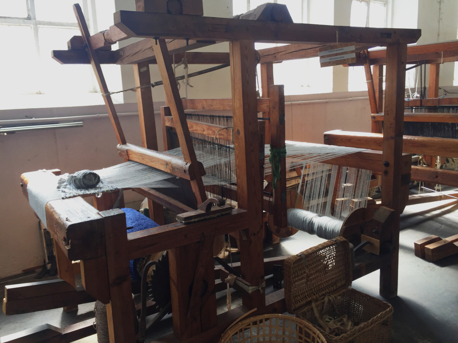 Vintage loom used for making scarves and shawls