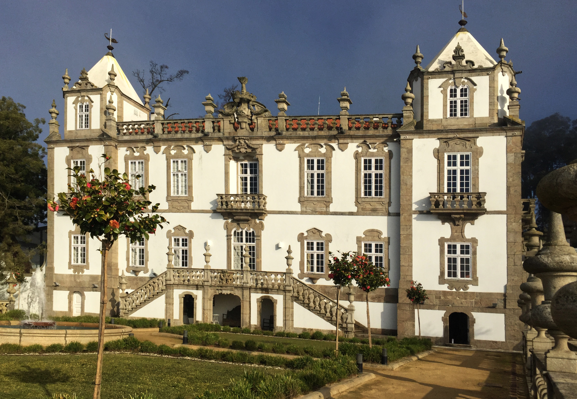 The façade of the Palácio de Freixo facing the River Douro