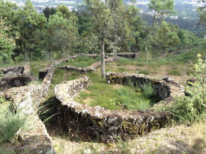 Foundations of a round house in the Iron Age  settlement of Briteiros