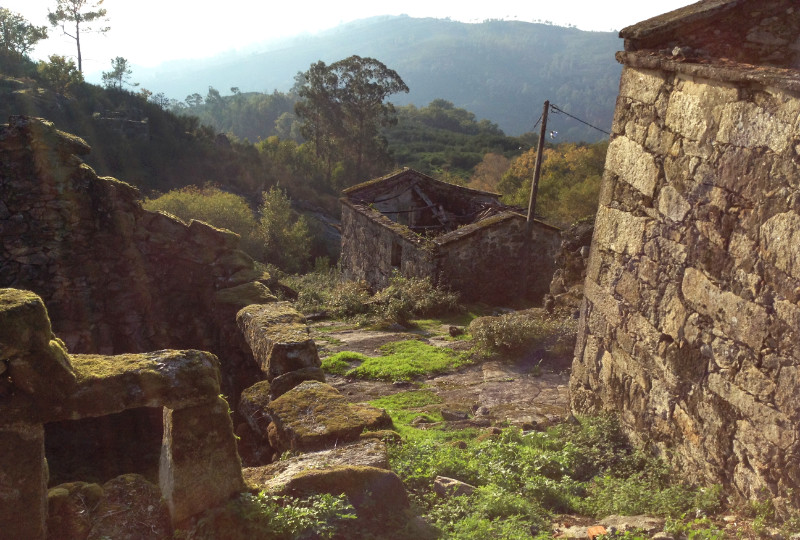 Ruined houses in the Peneda Geres