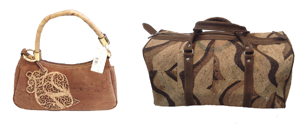 Two cork leather bags