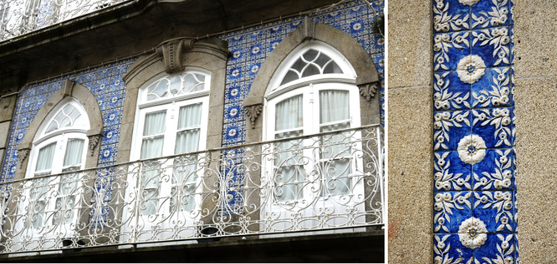 Tiled house in Valenca do Minho  Castle