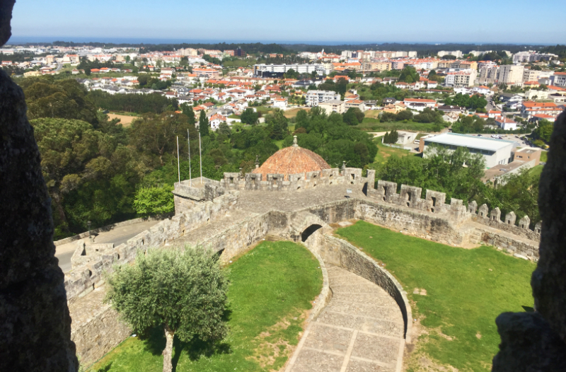 View from the roof of S Maria da Feira Castle