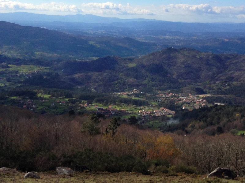 View from the Peneda Mountains over the Minho valley and into Spanish Galicia